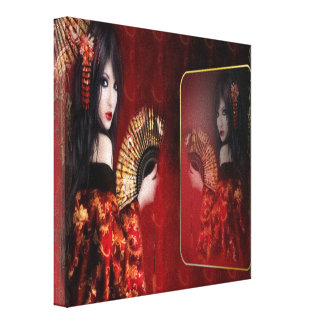 Japanese Beauty - Wrapped Canvas
