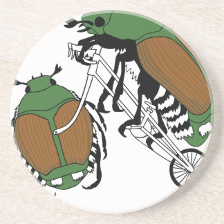Japanese Beetle Riding Bike/ Japanese Beetle Wheel Beverage Coasters