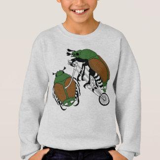 Japanese Beetle Riding Bike/ Japanese Beetle Wheel Sweatshirt