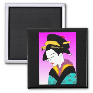 Japanese Blue Kimono Magnet