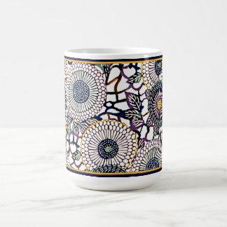 Japanese Blue Mums - 11oz Coffee Mug
