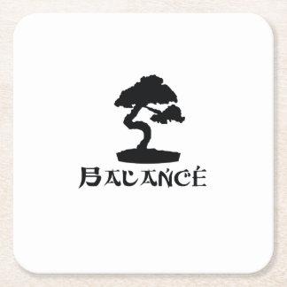 Japanese Bonsai Tree  Japan Tradition Culture Square Paper Coaster