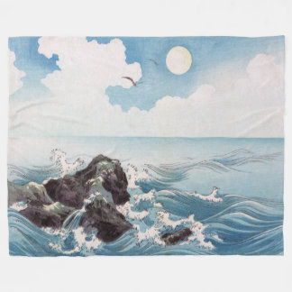 Japanese Breakwater Fleece Blanket