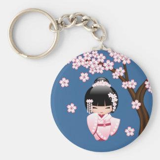 Japanese Bride Kokeshi Doll Key Chains