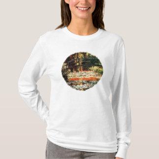 Japanese Bridge by Claude Monet. T-Shirt