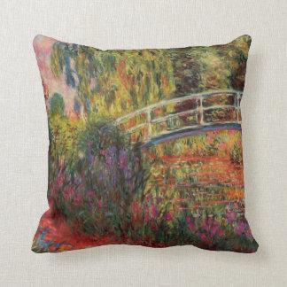 Japanese Bridge Water Lily Pond Monet Fine Art Throw Pillow