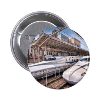 Japanese Bullet Trains at Tokyo Station 6 Cm Round Badge