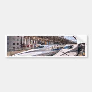 Japanese Bullet Trains at Tokyo Station Bumper Sticker