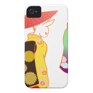 Japanese Bunny Rabbits iPhone 4 Case-Mate Cases