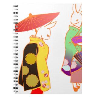 Japanese Bunny Rabbits Notebooks