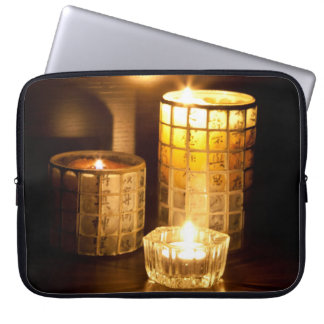 Japanese candles laptop computer sleeve