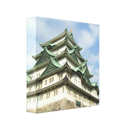 Japanese Castle Stretched Canvas Print