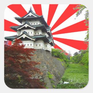 Japanese Castle Square Sticker
