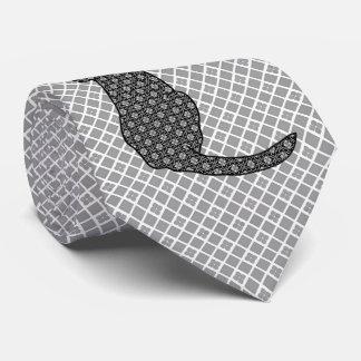 Japanese Cat - Black and White Kimono Print Tie