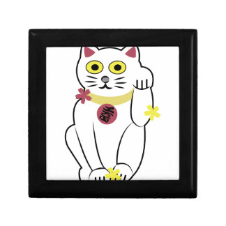 Japanese Cat Small Square Gift Box
