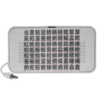 Japanese character regarding the insect notebook speaker