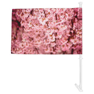 Japanese Cherry Blooms Car Flag