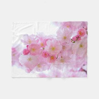 Japanese Cherry Blossom Fleece Blanket