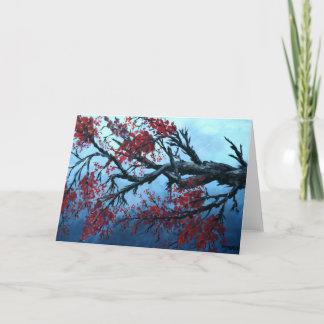 japanese cherry blossom flower tree  oriental art card