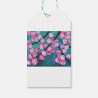 Japanese Cherry Blossom Painting Gift Tags