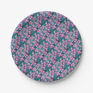 Japanese Cherry Blossom Painting Paper Plate