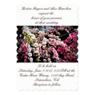 Japanese Cherry Blossom Photo Wedding Invitation