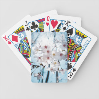 Japanese Cherry Blossom Zen Bicycle Playing Cards
