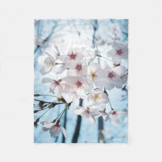 Japanese Cherry Blossom Zen Fleece Blanket
