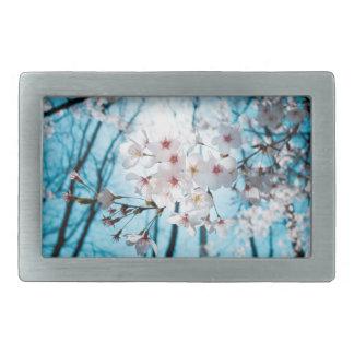 Japanese Cherry Blossom Zen Rectangular Belt Buckles