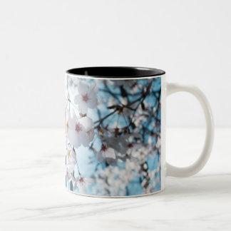 Japanese Cherry Blossom Zen Two-Tone Coffee Mug