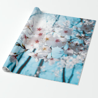 Japanese Cherry Blossom Zen Wrapping Paper