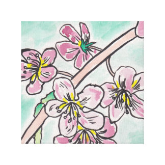 Japanese Cherry Blossoms Canvas Prints