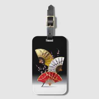 Japanese Cherry Fans Luggage Tag