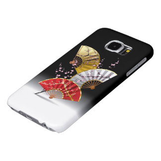 Japanese Cherry Fans Samsung Galaxy S6 Cases