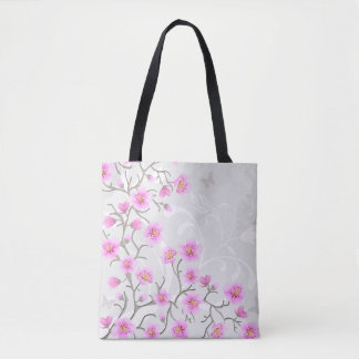 Japanese Cherry Flowers All-Over-Print Tote Bag