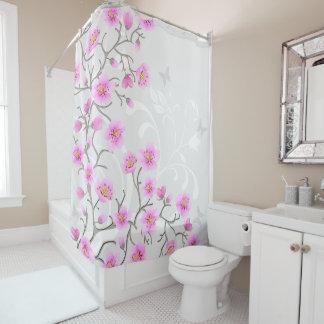 Japanese Cherry Flowers Shower Curtain