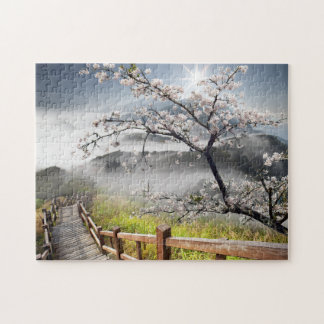 Japanese Cherry Landscape Puzzle