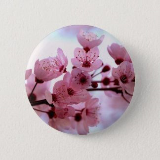 Japanese Cherry Tree Blossoms 6 Cm Round Badge