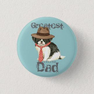 Japanese Chin Dad 3 Cm Round Badge