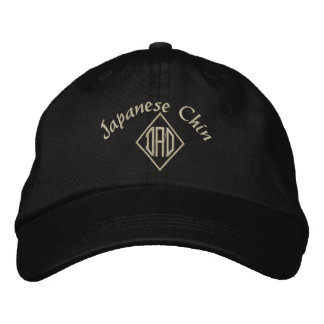 Japanese Chin Dad Embroidered Hat