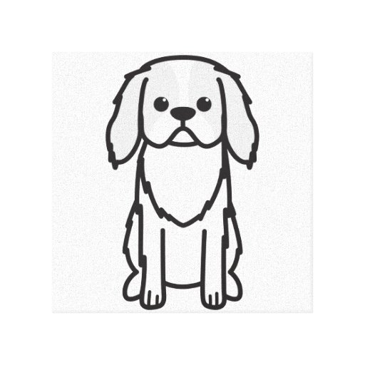 Japanese Chin Dog Cartoon Gallery Wrapped Canvas