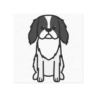Japanese Chin Dog Cartoon Canvas Print