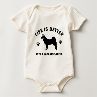 japanese chin dog design baby bodysuit