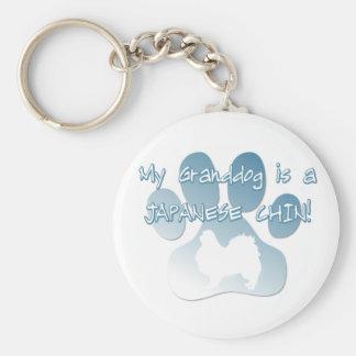 Japanese Chin Granddog Key Ring