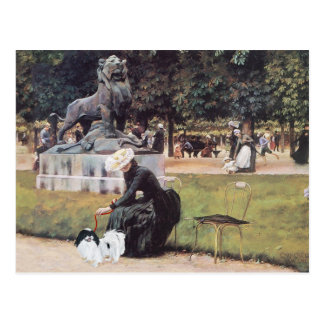 Japanese Chin in the Park Postcard