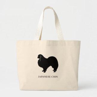Japanese Chin Large Tote Bag