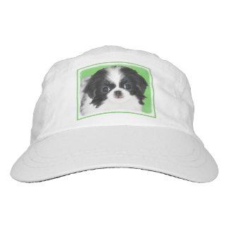 Japanese Chin Puppy Painting - Original Dog Art Hat