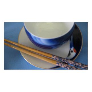 Japanese chopsticks and bowl business cards