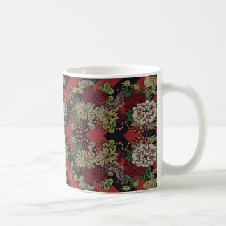 Japanese Chrysanthemums & Chevrons Mug