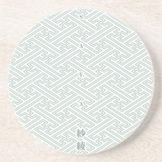 "Japanese classic pattern ""SAYA"". Harmony handle Coaster"